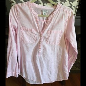 Old Navy tunic, light pink linen, size M